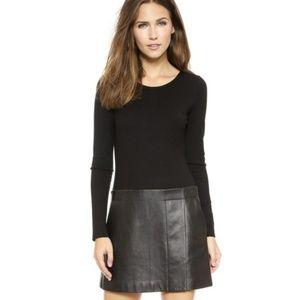 Theory Bowmont Lamb Leather Dress Size 4